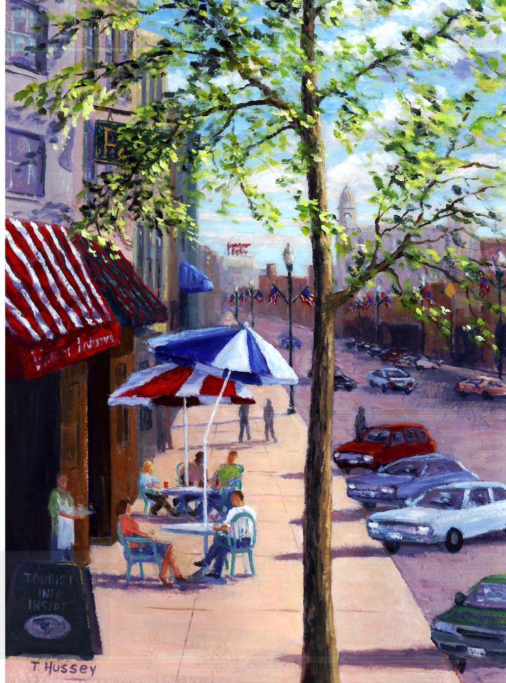 Genesee Street by Artist Tom Hussey