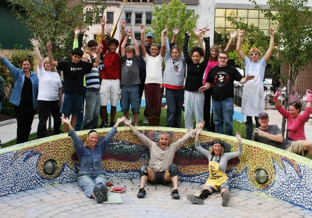 Exchange Street Community Mosaic Installation