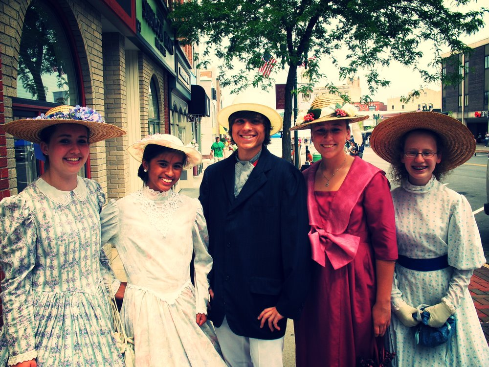 Living History Players at Founder's Day