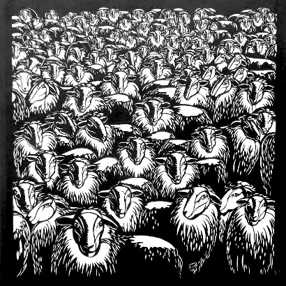 Monika Flütsch: Herd of sheep, 2012 ( source )