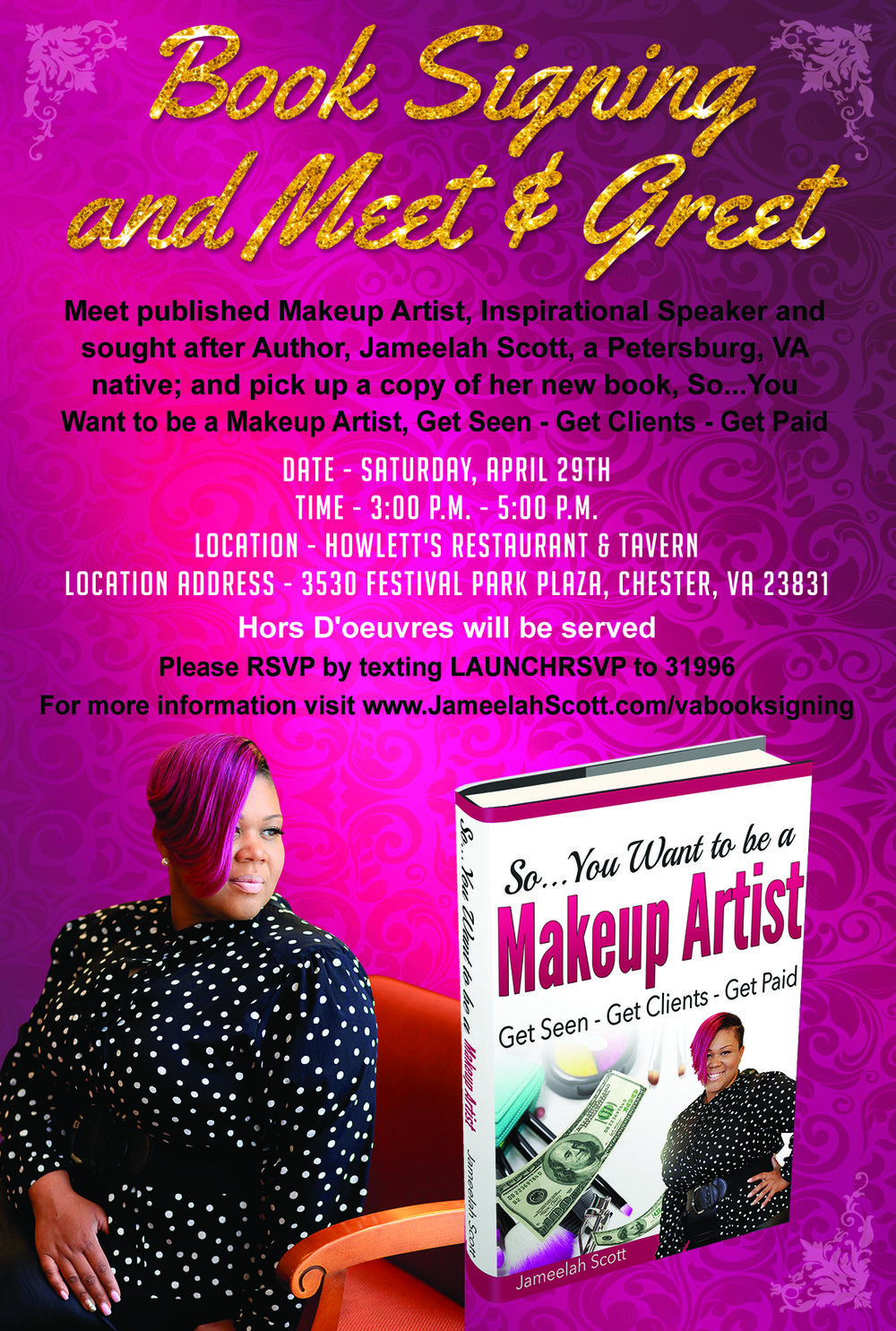Jameelah Scott Makeup Artistry Book Signing and Meet & Greet