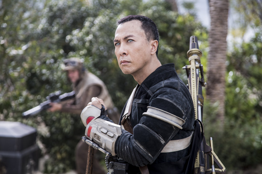 "Donnie Yen is one of two major Asian characters in the new film ""Rogue One - A Star Wars Story"""