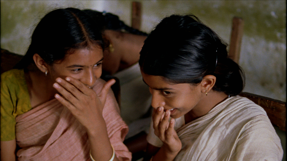 Vanaja and Lacchi Giggling in Class.jpg