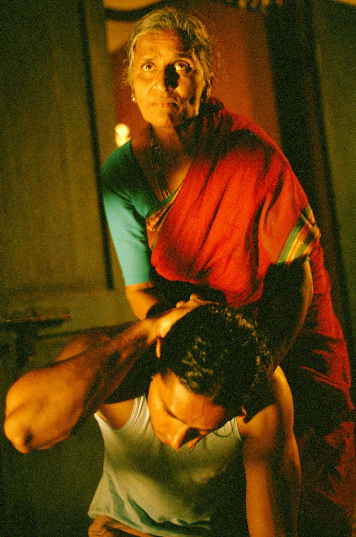 Rama Devi punishes, her son, Shekhar.jpg