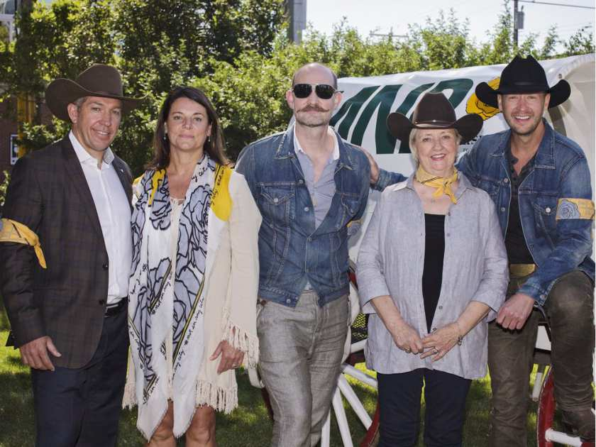 Sheldon Kennedy, Sal Howell, Paul Hardy, Joy Smith and Paul Brandt gather at the Dean House in Calgary on July 5, 2017. The group are involved in #NotInMyCity, a new Calgary-based campaign aimed at raising awareness about human trafficking. For City story by Anna Junker. KERIANNE SPROULE/POSTMEDIA CALGARY HERALD