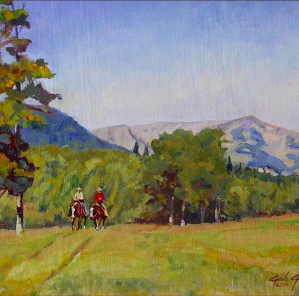 "Gaile Gallup - ""The Range Riders"" 11x14"" oil painting"