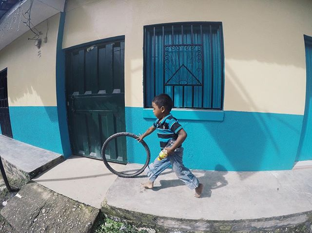 Hope you're rollin' through this week like this dude, who played with our winter Honduras brigade! #USC #GBM #Honduras #globalbrigades