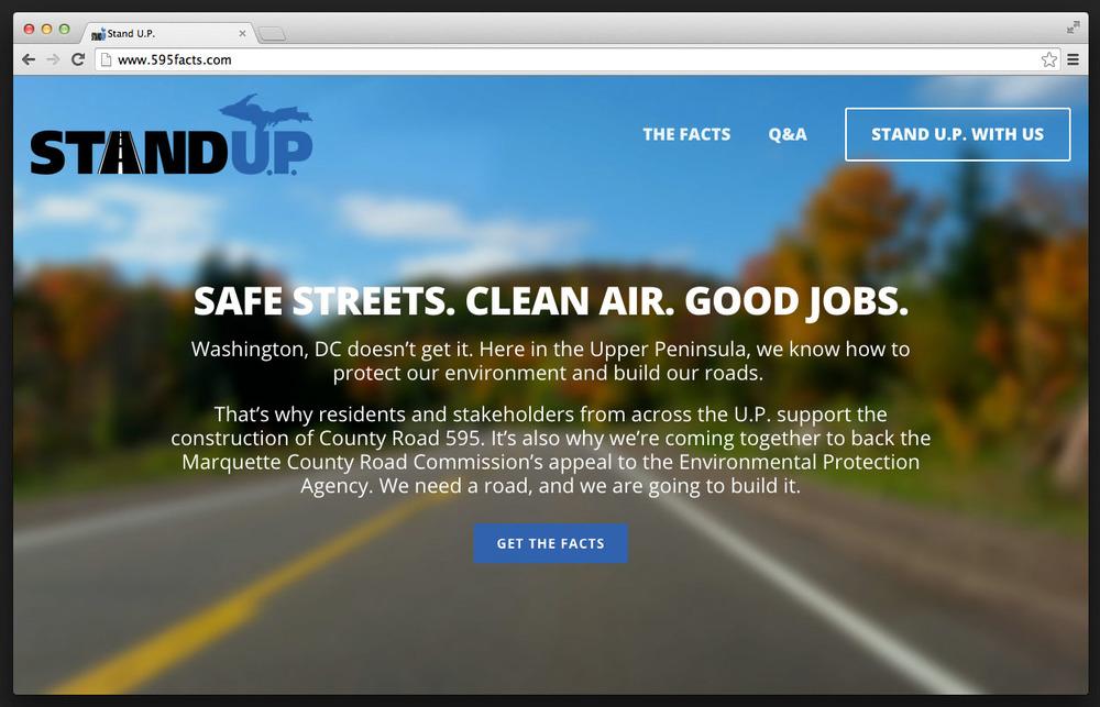 Stand U.P. website
