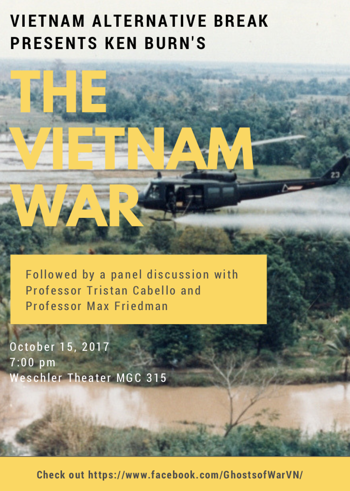 The Vietnam War - Panel Discussion with Tristan Cabello and Max FriedmanWescher Theater - American University