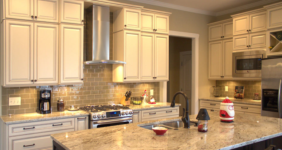 Antique White Glazed Kitchen Cabinets Zitzat, Kitchen Design