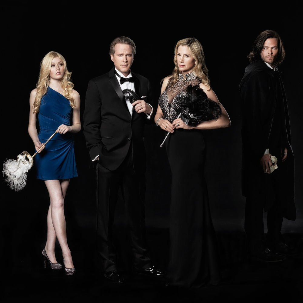 The leads of  Indiscretion  (from left): Katherine McNamara, Cary Elwes, Mira Sorvino, and Christopher Backus