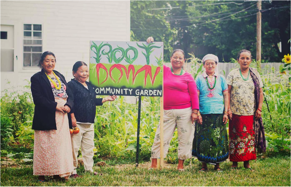 In recent years East Omaha has seen a growth in community gardens helping to create food-secure and healthier neighborhoods. Photo credit: Ariel Panowicz