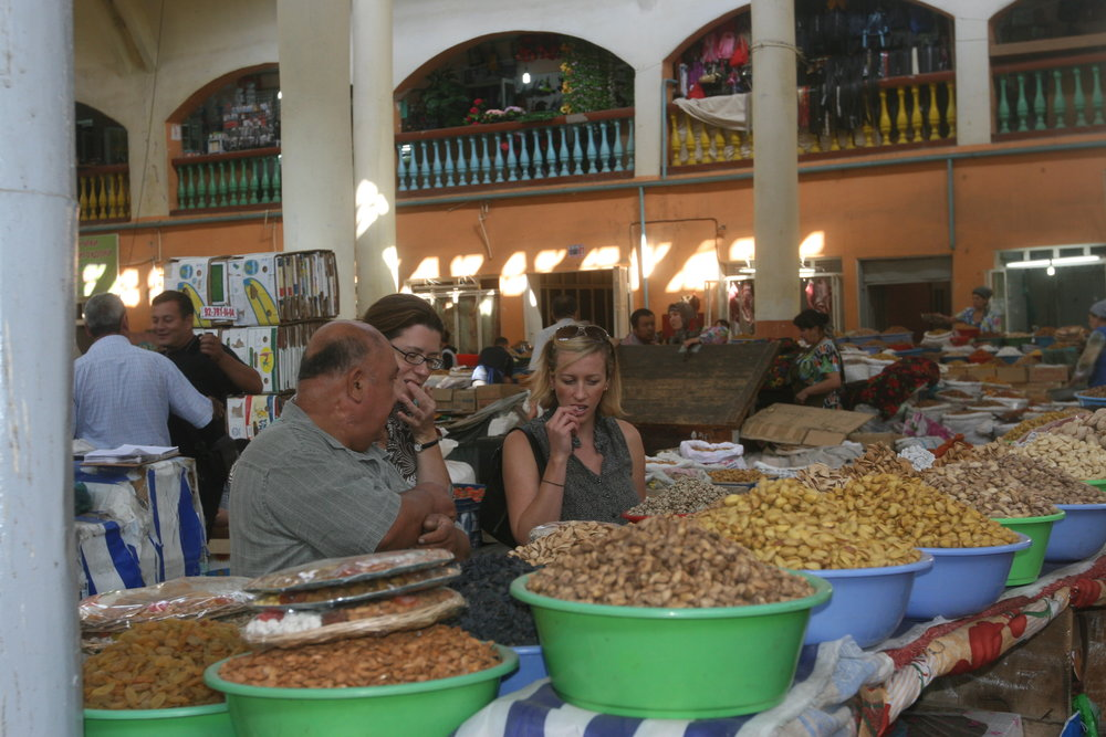 Open air market in Dushanbe, Tajikistan. (2013)