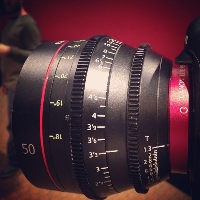 Working with this beautiful lens today. #canonlens #cineprime #50mm #breatheexcellence