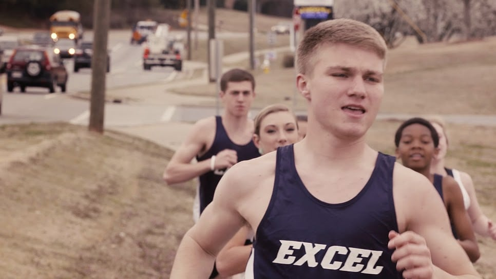 Screenshot of the ECA cross country team from the Excel video.