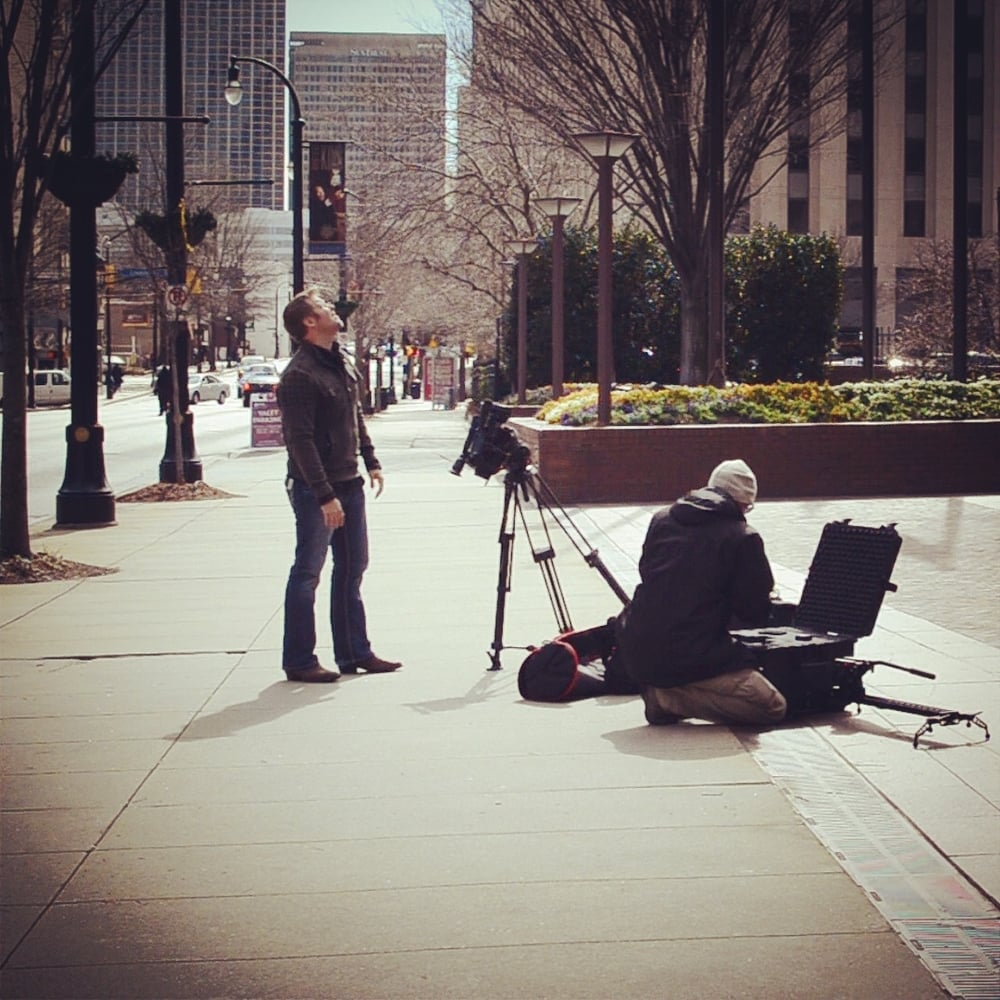 Right next to the Bank of America building