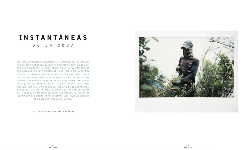 Revista Don Juan: Instantáneas de la coca