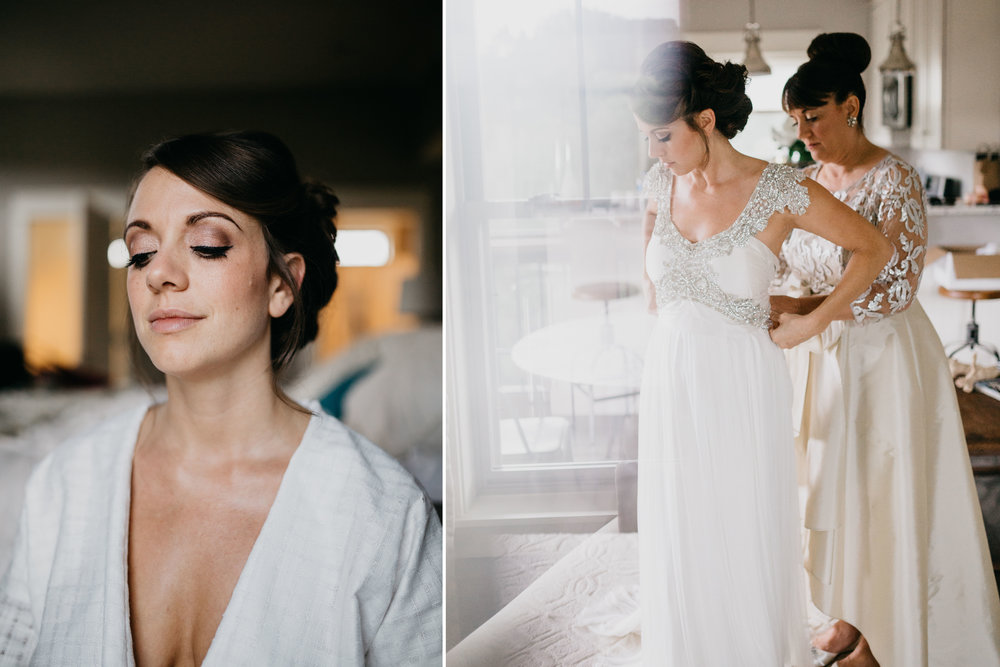 White Texture Custom Wedding Robe