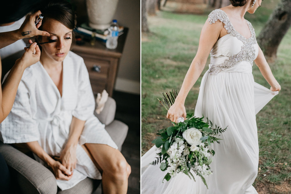 Texture White Bridal Robe