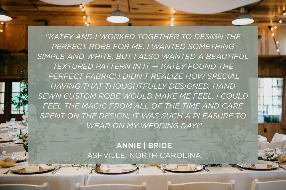 Custom Bridal Robe Testimonial