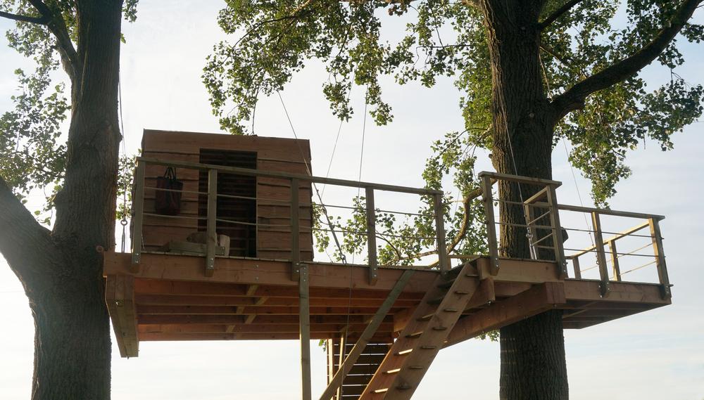 boomhut in Zwevegem voor restaurant De Geit