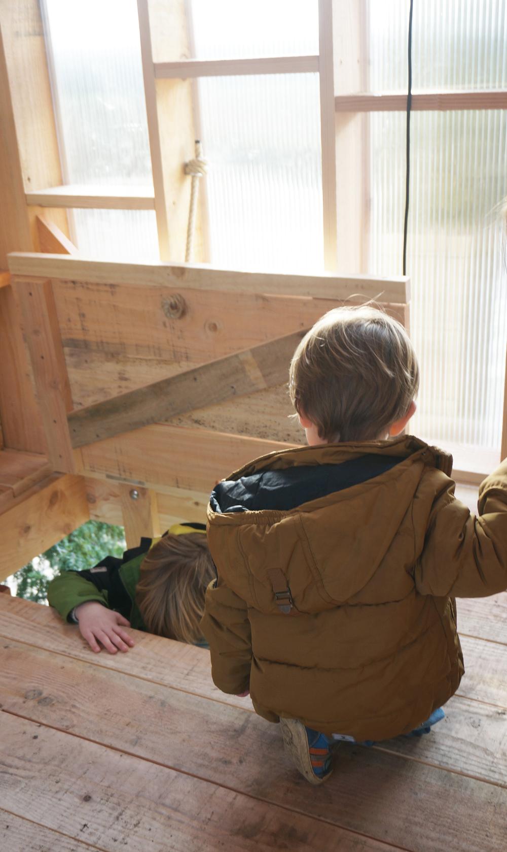 pop-up boomhut voor Stijn Streuvels' Lijsternest