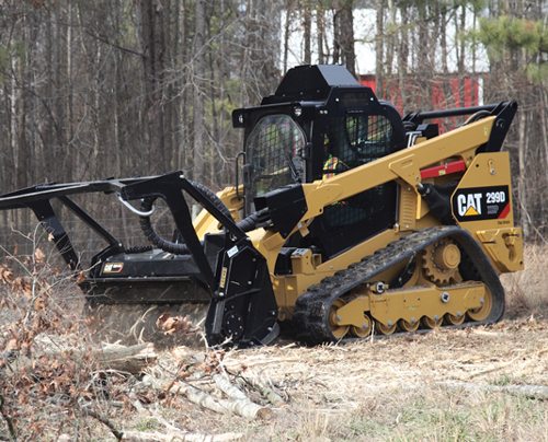 Lease a CAT Skid Steer - Mulcher Head