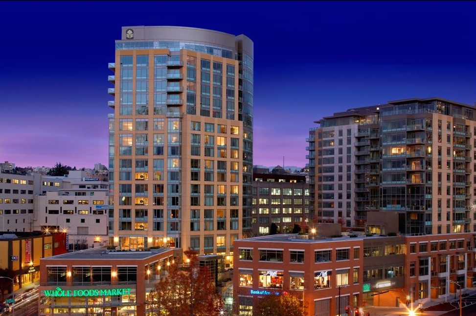 Above: A harbinger of what would come, 2200 is a mixed-use community comprised of retail, hotel and condominiums that was delivered in 2007 well before the development boom would take place in South Lake Union.