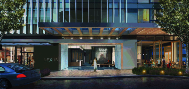 The retail level of NEXUS will provide a grand sense of arrival including a proposed coffee shop and restaurant.