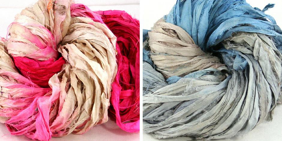 Darn Good Yarn's recycled Sari Silk Ribbon