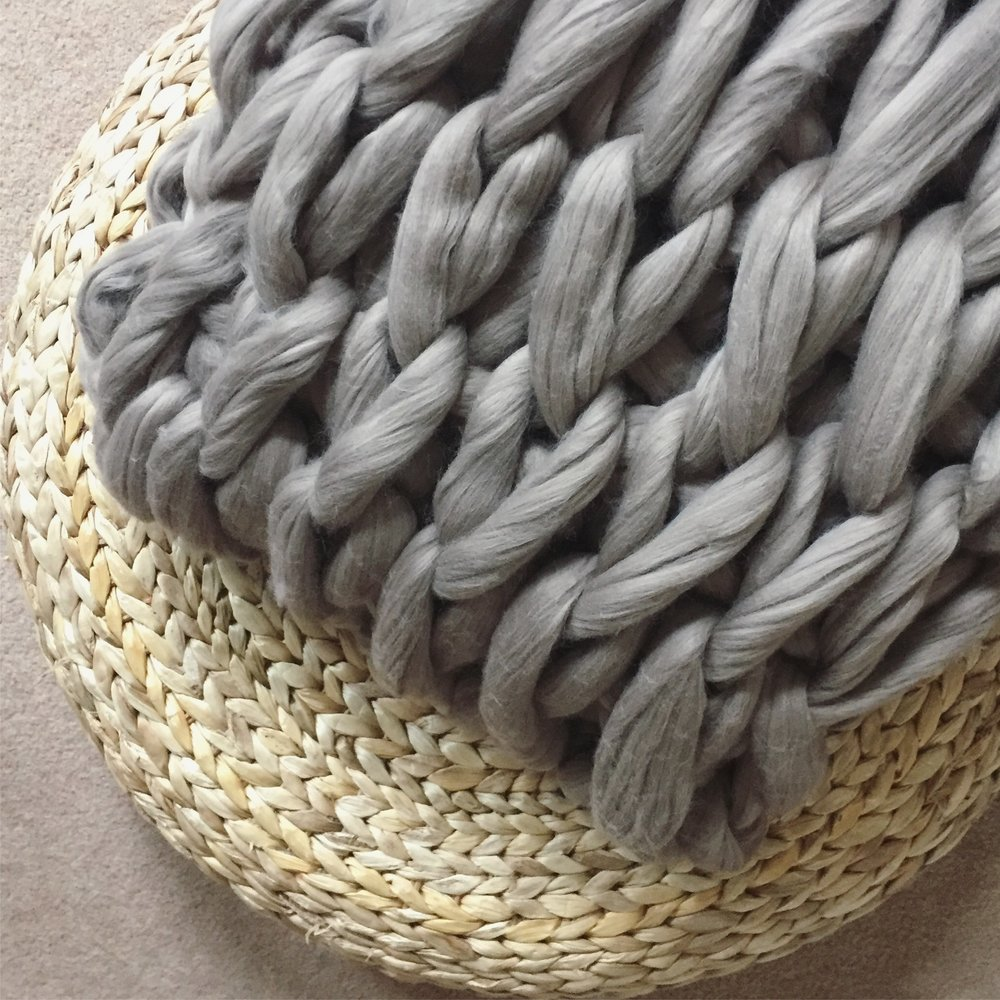 Arm Knit a Throw - I Make Knots
