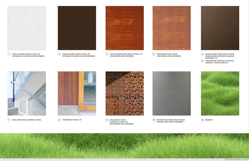 Building Material Palette