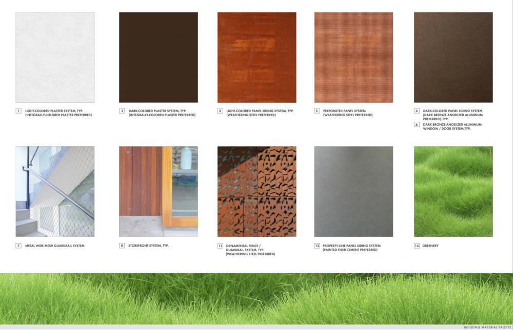 Building Material Palette