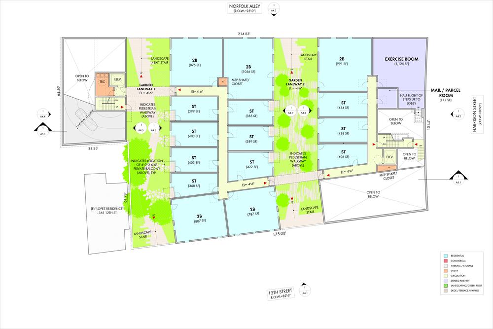 Garden Level Floor Plan