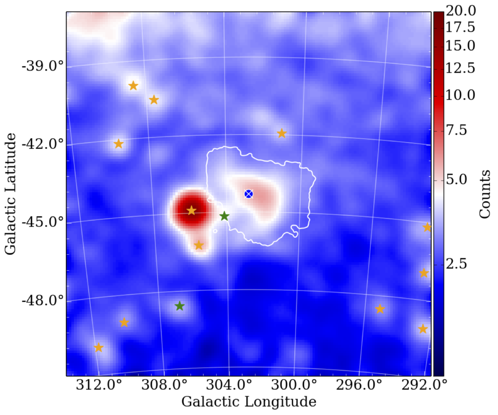 MAp of the SMC in gamma rays, fermi data. From Caputo et al.