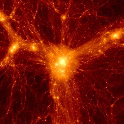 Simulated Dark Matter cluster - Credit: Benedikt Diemer, Philip Mansfield
