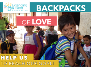 Backpacks Of Love 2017 - Each year we support children and sick seniors from the villages around Agua de Dios with a backpacks drive campaign, delivering backpacks full of primary necessities to those in need.