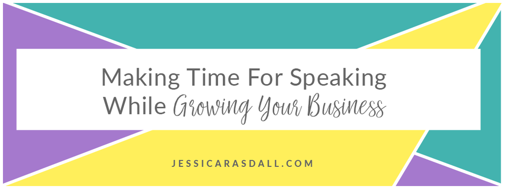 How to make time for public speaking