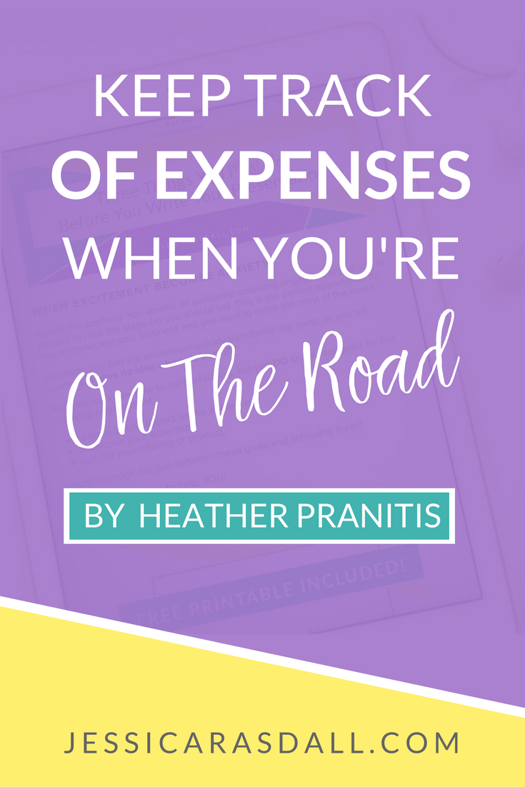 Keep track of expenses when you're on the road