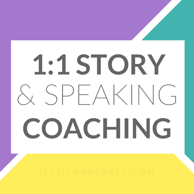 one on one story and speaking coaching for creative entrepreneurs