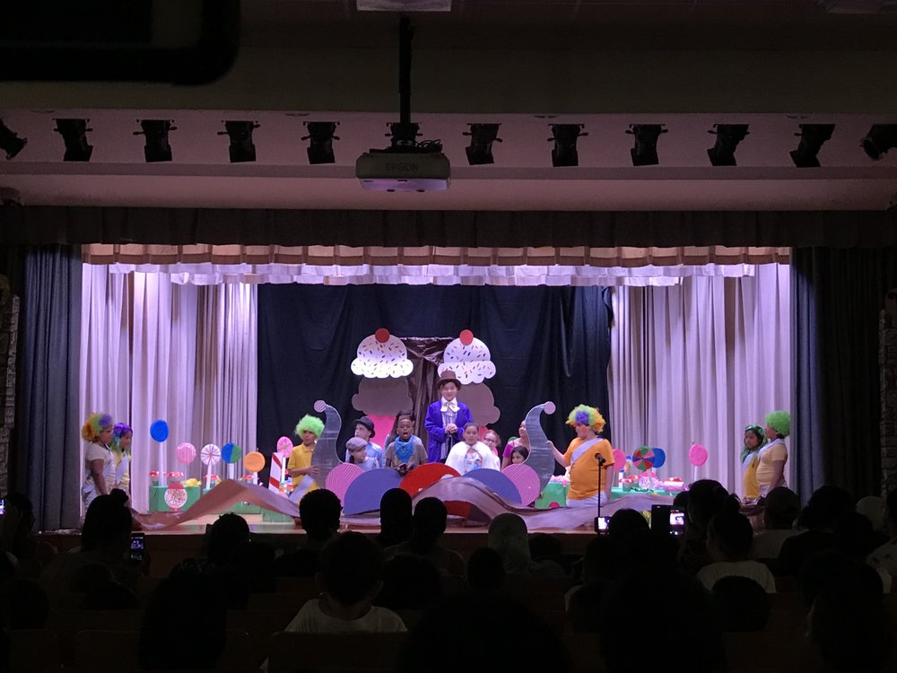 Picture of charlie and the chocolate factory play