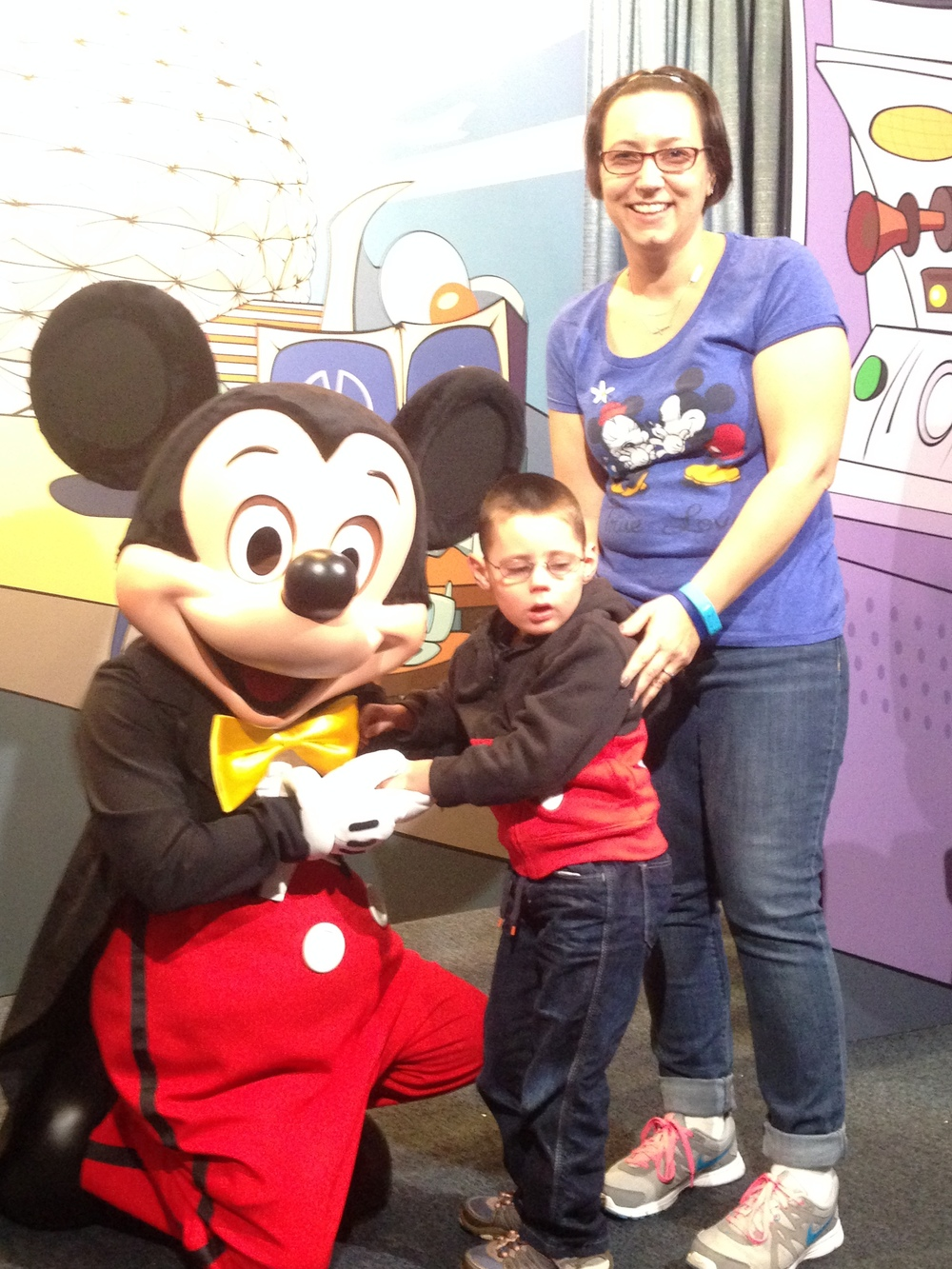 In January 2015, we took Jackson to Disney to meet his idol, Mickey Mouse