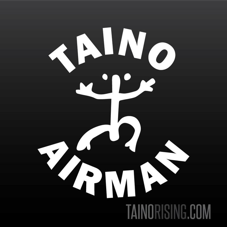 Taino Air Force Airman Coqui Taino Petroglyph Car Laptop Window