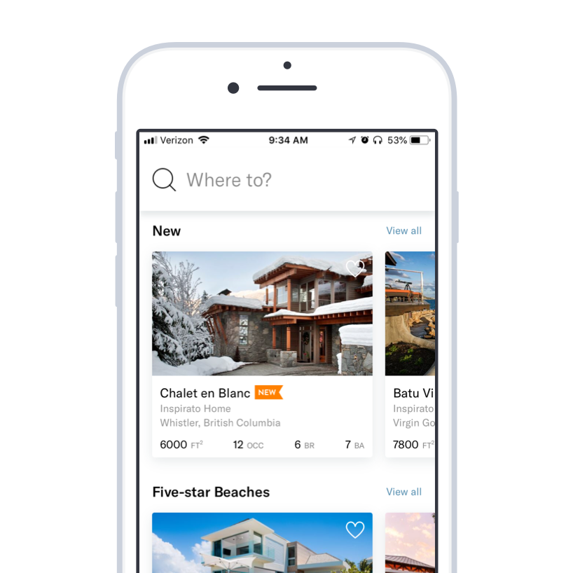 Inspirato iOS App - The Inspirato iOS app allows people to take the club with them. From dreaming about vacations to a personal travel guide, the Inspirato app has travelers back.