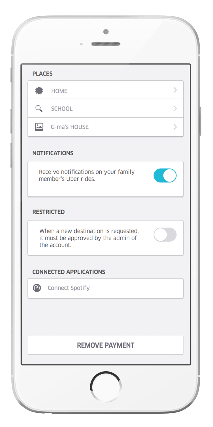 Notifications keep parents updated and in the know about where their children are - If turned on, parents receive alerts the moment their children requests a ride. Once the child is in the car, parents receive realtime notifications about arrival times and unexpected delays—letting parents know that their child is safe at every point of the ride.