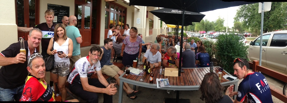 Post-race and post-presentations at The Delatite...