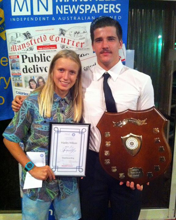 Hayley Wilson, Junior Sportswoman of the Year and Hayden Fletcher, Sportsman of the Year.
