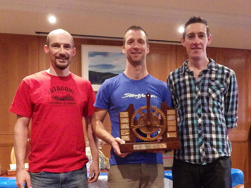 Summer Road Race Series Champions: 3rd Dave Moore, 1st Tom MacMunn, 2nd Josh Hopwood.