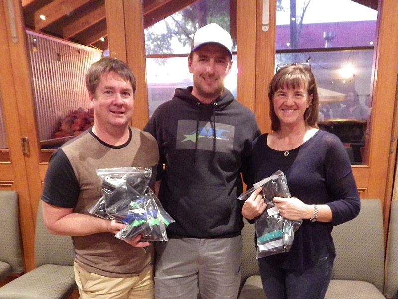 Winners of the new ATC Good Sports Awards: Jason Parker and Kate Stonnill with Shannon Rademaker from All Terrain Cycles.