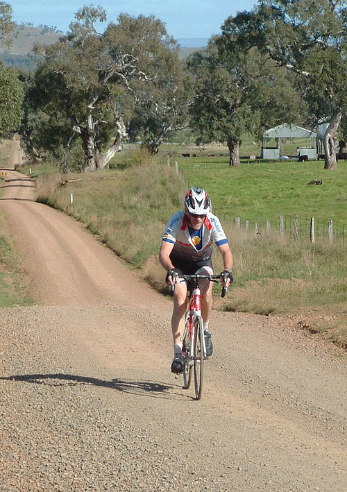 From the archive: Steve Flew climbing up Mt Battery Road on his way to wining the 2012 Black 'n' Tan.